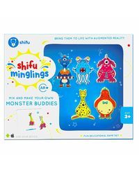 Shifu Minglings Monsters with Augmented Reality| Mix & Match Magnet Wooden Toys for Children Ages 3 and up| Fun Educational Game Set