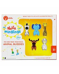 Shifu Minglings - Animals with Augmented Reality| Fun Educational Game Set| Mix & Match Magnet Wooden Toys for Children Ages 3 and up