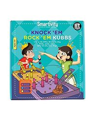 Smartivity Knock 'Em Rock 'Em Kubbs Diy Kit, Age 8+