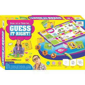 Kids Board Game Guess it Right Improves Social Skills: Improves Drawing & Imagination Skills: Improves Cognitive Skills: Best Birthday Gift for kids